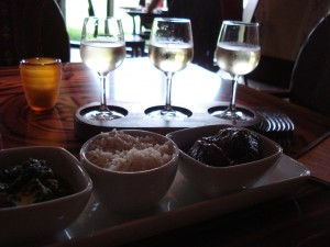 Sanaa Wine Flight and Slow-Roast