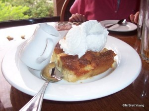 Ohana Bread Pudding with Bananas Foster Sauce---as Served