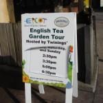Epcot Twinings Tea Tour