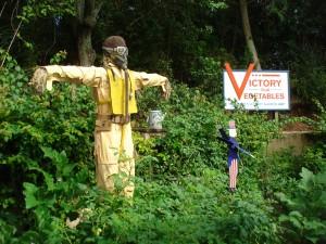 Patriotic Scarecrows