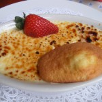 Creme Brulee with Madeleine