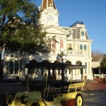 Car on Deserted Main Street USA