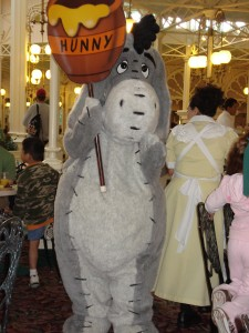 Eeyore Being Shy During the Parade