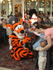 Tigger Signing Autographs...Sort Of...