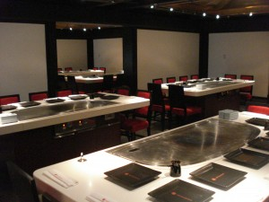 Hibachi-embedded Dining Tables