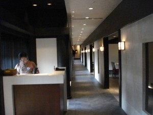 Long Hallway of Dining Rooms