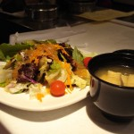 Miso Soup and Garden Salad