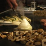 onion volcano at Teppan Edo