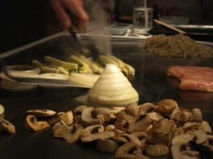 onion volcano at Teppan Edo
