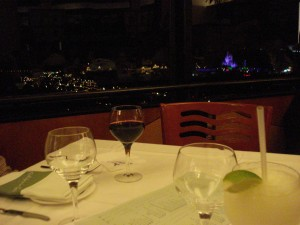 View of Castle from our California Grill Table
