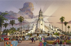 Artist Rendition of Carthay Circle Theater (c)Disney