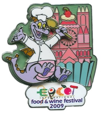 Exclusive Annual Passholder Pin for Epcot Food and Wine Festival 2009