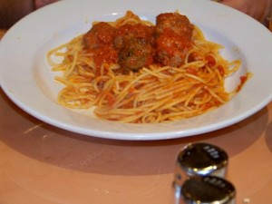 Spaghetti with Veal Meatballs