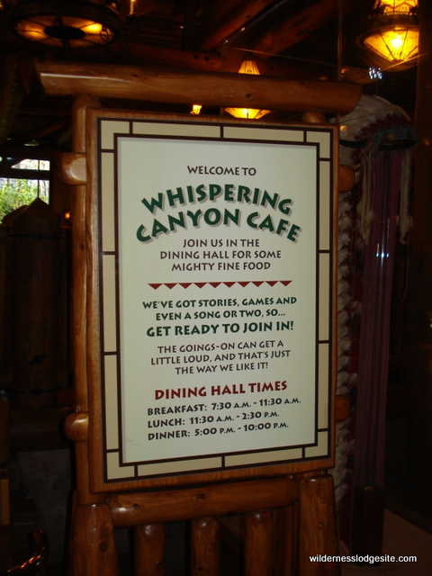 Whispering Canyon Cafe Warnings