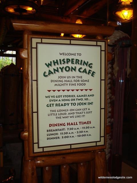 Whispering Canyon Cafe Warnings