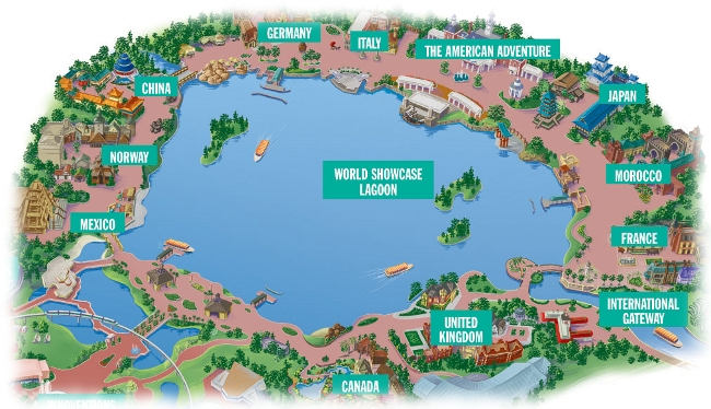 Epcot world showcase map the disney food blog world showcase in epcot gumiabroncs Choice Image