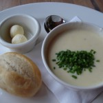 Recipe: Potato & Leek Soup, Rose and Crown Dining Room