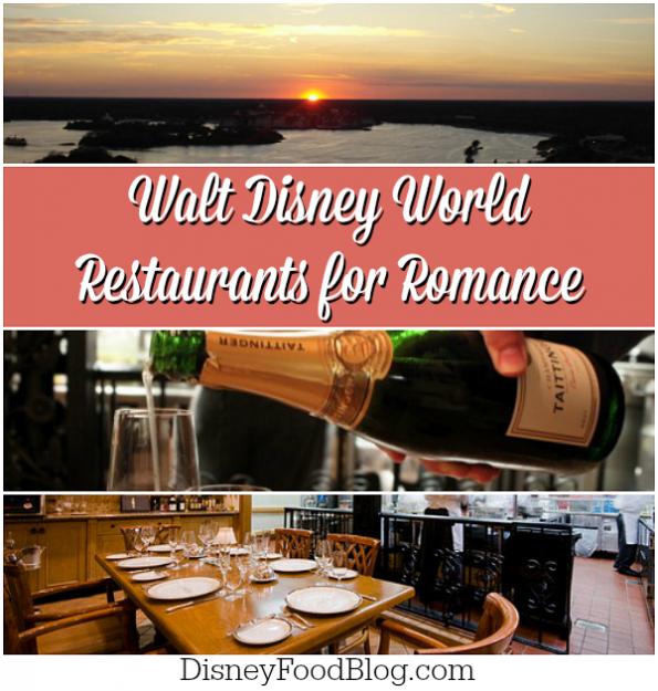 Walt Disney Restaurants for Romance