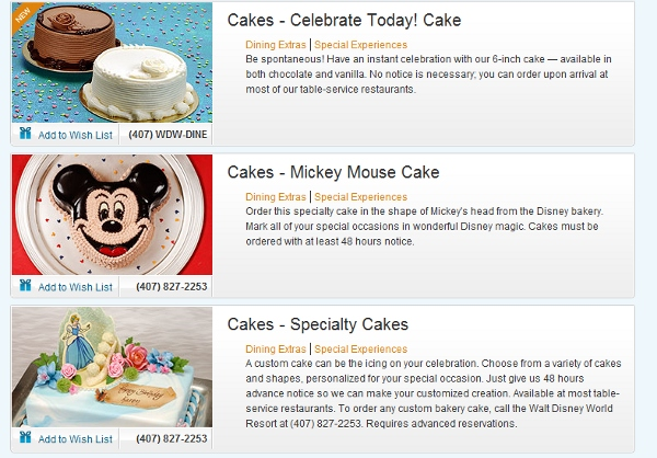 Disney World Celebrations Page