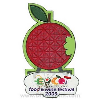 14th Annual Epcot International Food and Wine Festival Logo Pin
