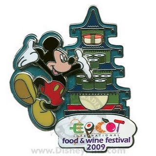 14th Annual Epcot International Food and Wine Festival Mickey and Japan Pin