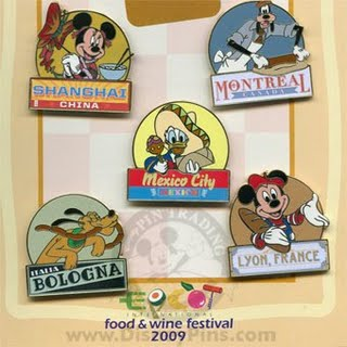 14th Annual Epcot International Food and Wine Festival City Pins