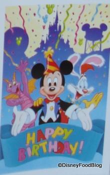 Disney's Standard Birthday Card