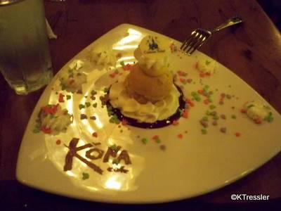 Kona Cafe, Polynesian Resort: Birthday Treat