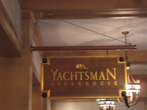 Yachtsman Steakhouse Sign