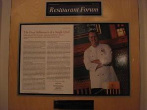 Restaurant Forum Plaque
