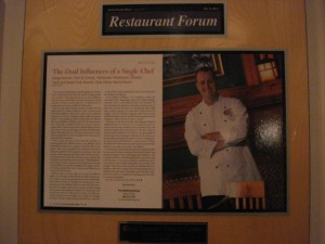 Restaurant Forum Plaque