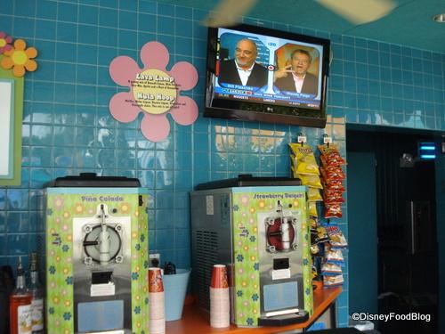 Frozen Drink Machines and Flat Screen TV