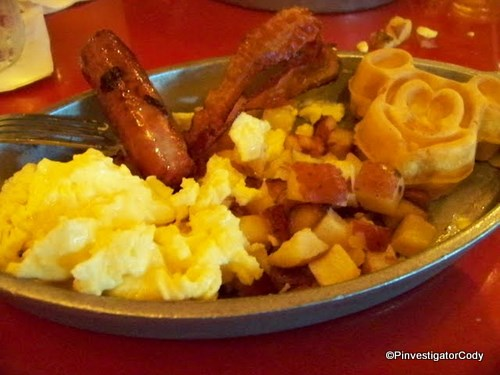 Plate With Mickey Waffle