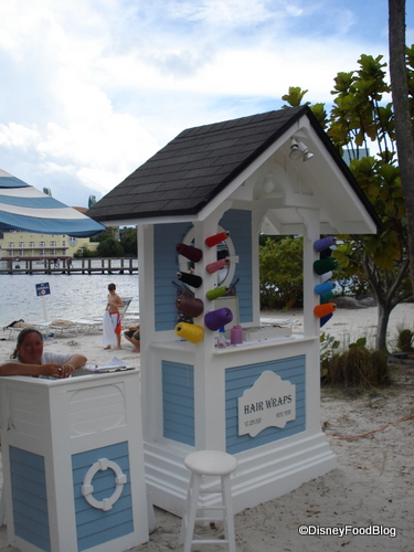 Yacht and Beach Club Hair Wrap Station