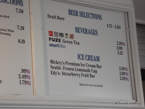 Beer, Beverages, and Ice Cream