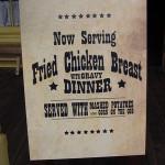New Menu Item at WDW's Pecos Bill's Tall Tale Inn & Cafe