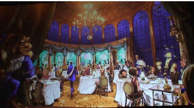 Be Our Guest Restaurant Concept Art, Beast's Castle