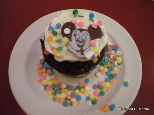Chef Mickey's Birthday Cupcake