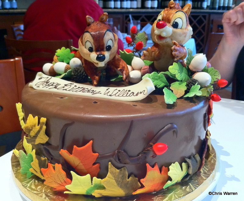Chip N Dale Cake At California Grill