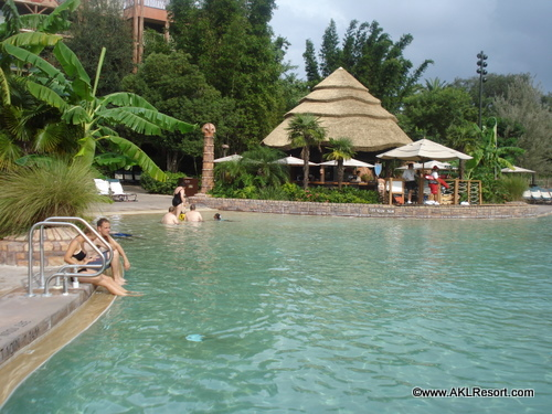View of the Pool Bar Across Uzima Springs Pool