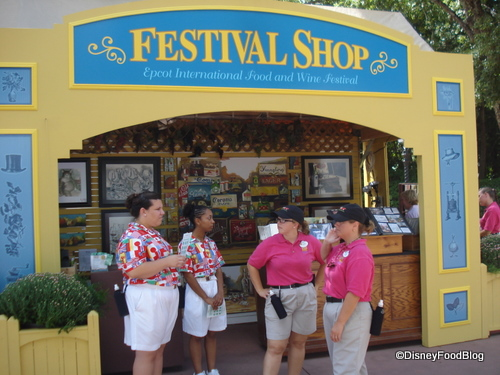 One of the many Festival Shops