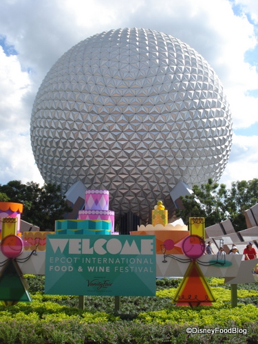 Epcot Food and Wine Festival welcome