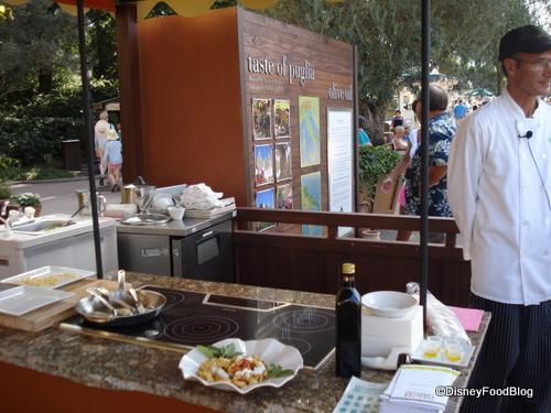 Kitchen Set Up for Taste of Puglia