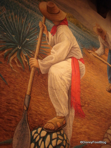 A Section of the Cava del Tequila Mural