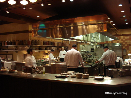 Kouzzina dinner review the disney food blog - Show picture of kitchen ...