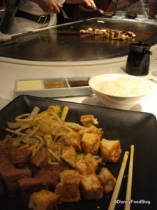 A Full Plate at Teppan Edo