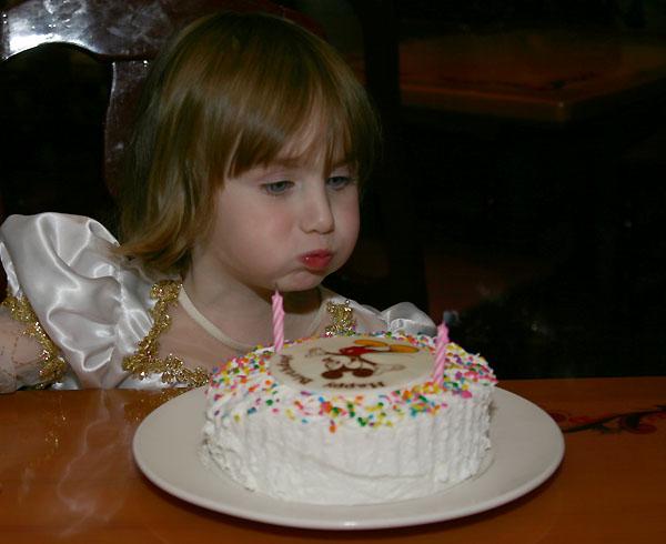 Princess Chloe at Akershus, Epcot's Norway: Pre-Ordered Birthday Cake