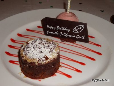 Another California Grill, Disney's Contemporary Resort: Birthday Treat