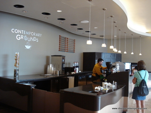 Ordering and Serving Area at Contemporary Grounds Coffee Bar