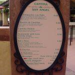 Cantina de San Angel's NEW Menu